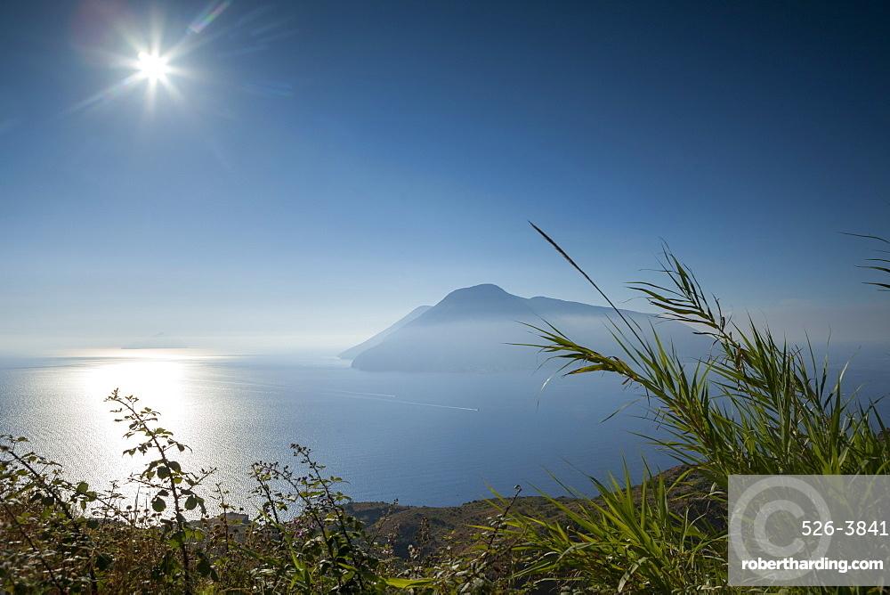View of Salina from Lipari, Aeolian Islands