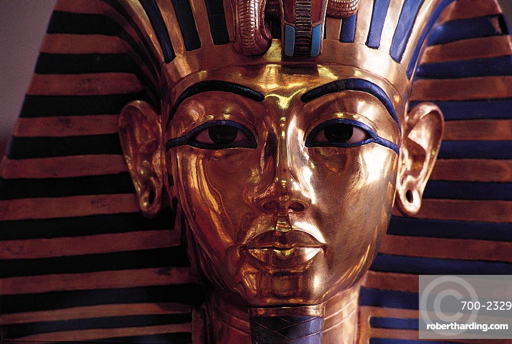 Cairo Museum, Tut En Kamon Golden Mask, Egypt, Africa