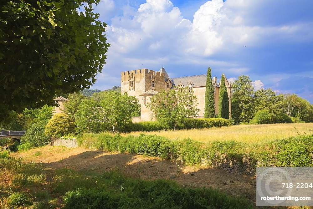 Allemagne en Provence castle, Allemagne en Provence, Alpes de Haute Provence, France, Europe