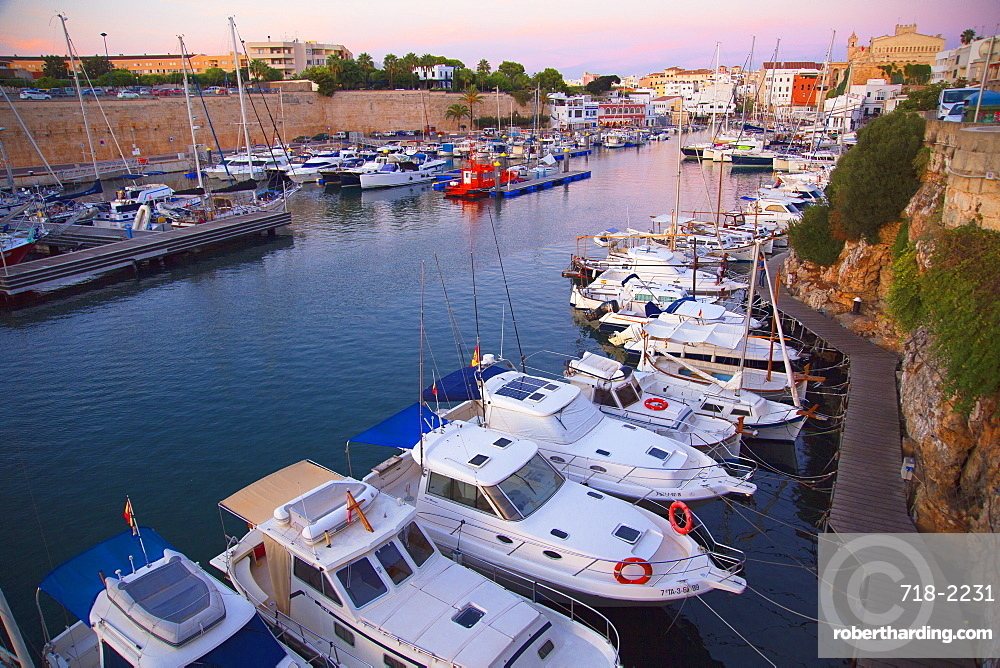 Historic old harbor, Ciutadella, Menorca, Balearic Islands, Spain, Mediterranean, Europe