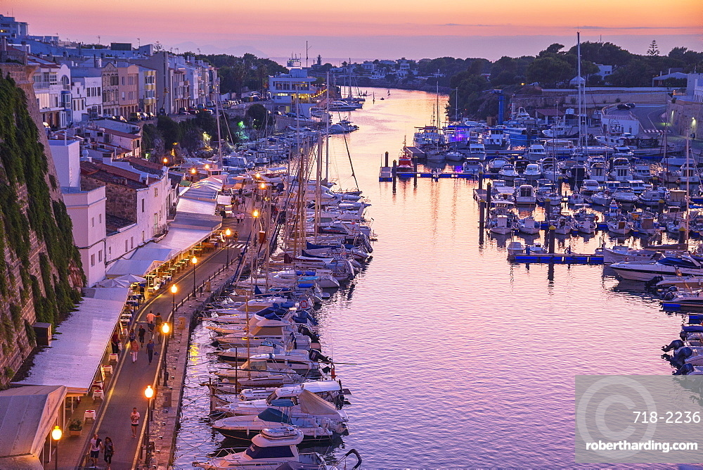 Historic old harbour, Ciutadella, Menorca, Balearic Islands, Spain, Mediterranean, Europe