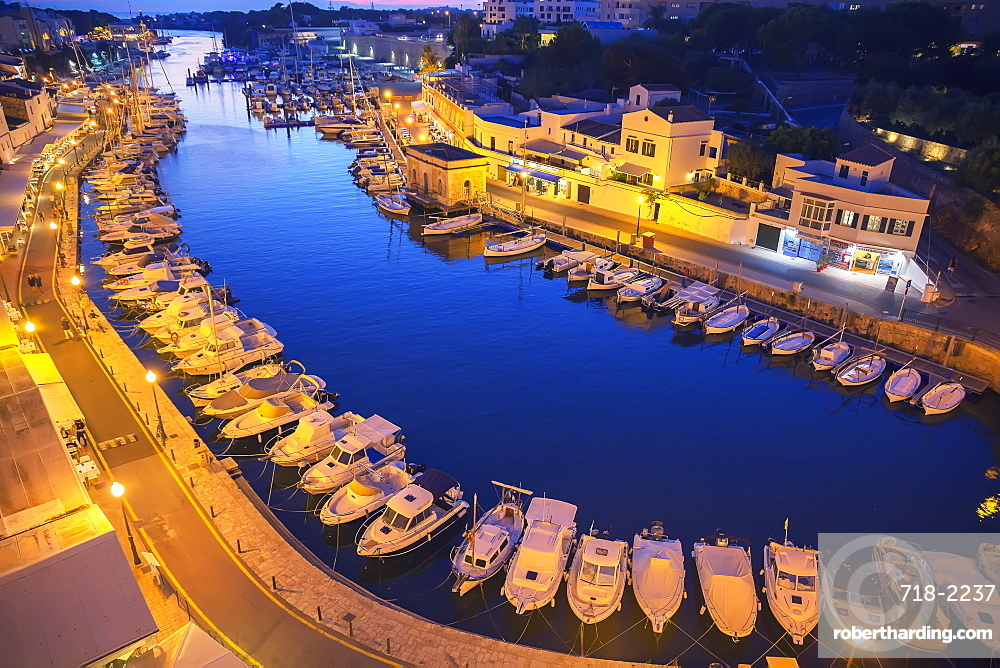 Historic old harbor, Ciutadella, Menorca, Balearic Islands, Spain, Mediterranean, Europe