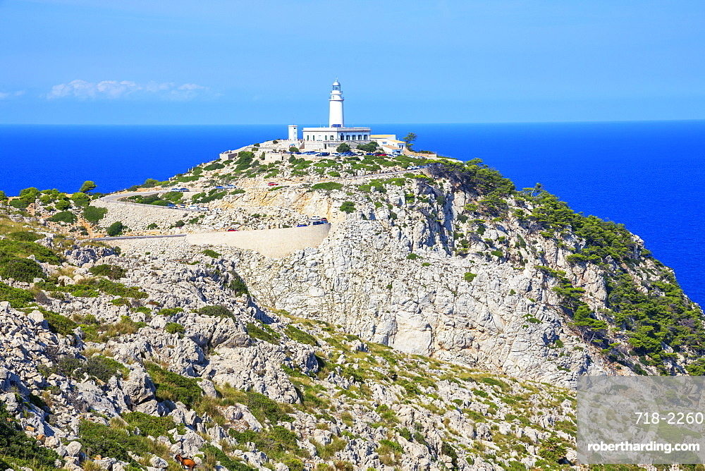 Lighthouse at Cap de Formentor, Mallorca (Majorca), Balearic Islands, Spain, Europe