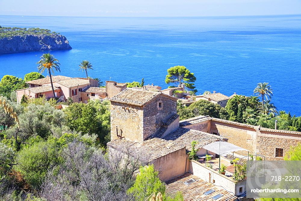 View of Lluc Alcari village near Deia, Mallorca (Majorca), Balearic Islands, Spain, Mediterranean, Europe