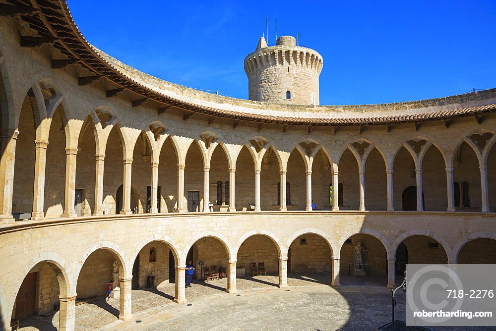 Bellver Castle, Palma de Mallorca, Mallorca (Majorca), Balearic Islands, Spain, Europe