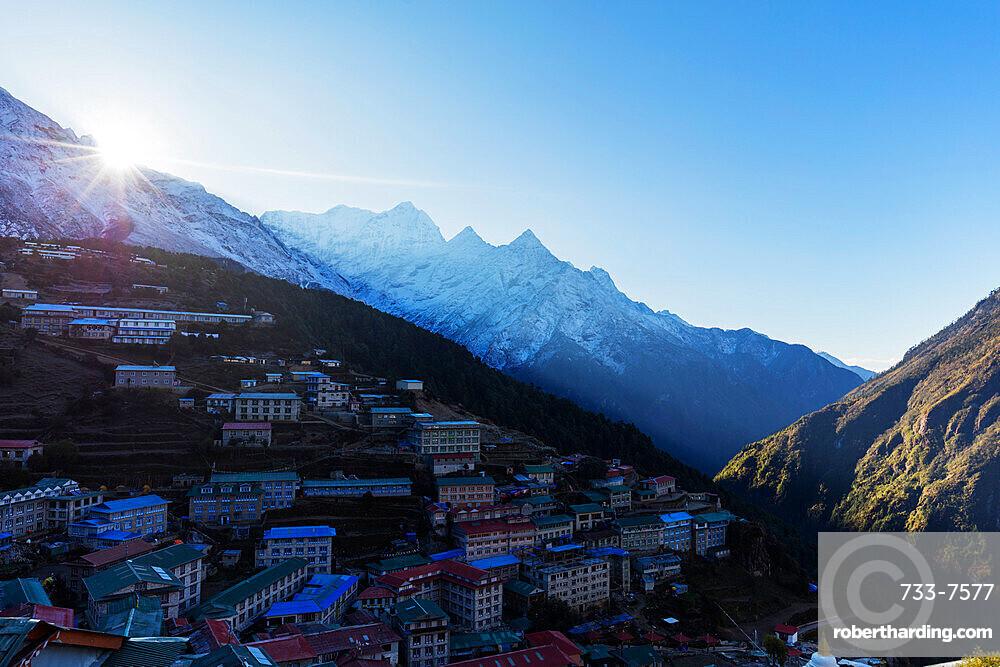 Namche Bazaar, Sagarmatha National Park, UNESCO World Heritage Site, Khumbu Valley, Nepal, Himalayas, Asia
