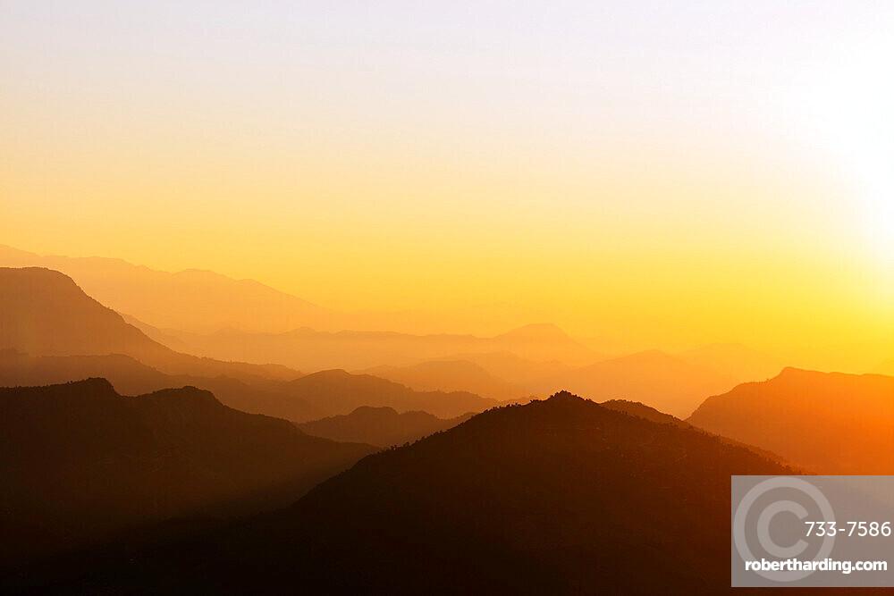 Sunrise from Sarangkot, Pokhara, Nepal, Himalayas, Asia