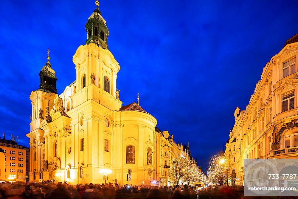 Church of Saint Nicholas, Old Town Square, UNESCO World Heritage Site, Prague, Czech Republic, Europe