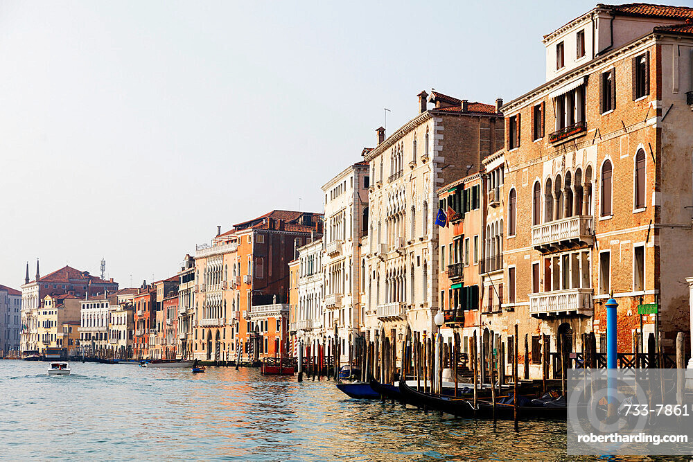 Historic Venetian buildings on the Grand Canal, Venice, UNESCO World Heritage Site, Veneto, Italy, Europe