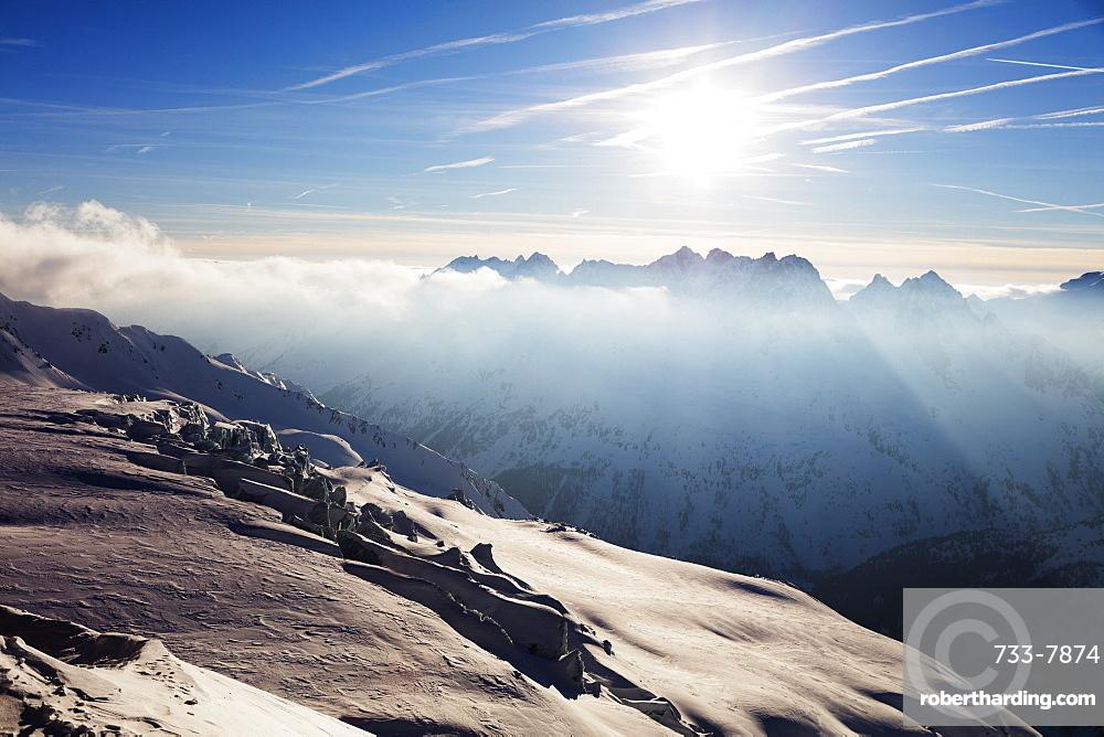 Glacier de Tour and Aiguilles Rouges, Chamonix, Haute Savoie, Rhone Alpes, French Alps, France, Europe