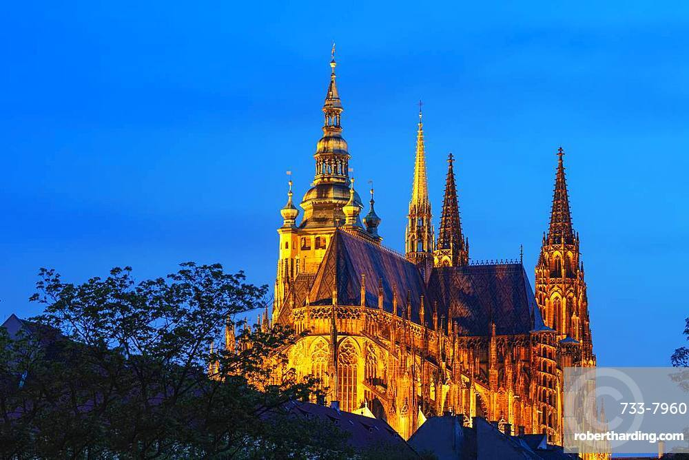 St. Vitus Cathedral, Prague, UNESCO World Heritage Site, Bohemia, Czech Republic, Europe
