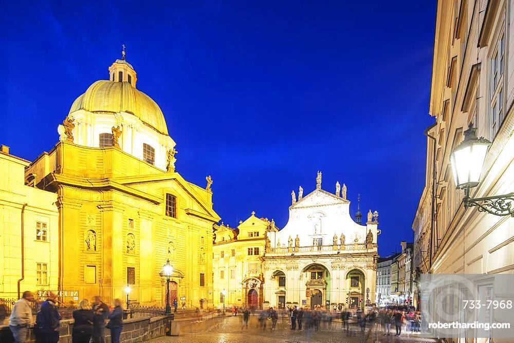 Charles Bridge Museum and Church of the Holy Saviour, Prague, UNESCO World Heritage Site, Bohemia, Czech Republic, Europe