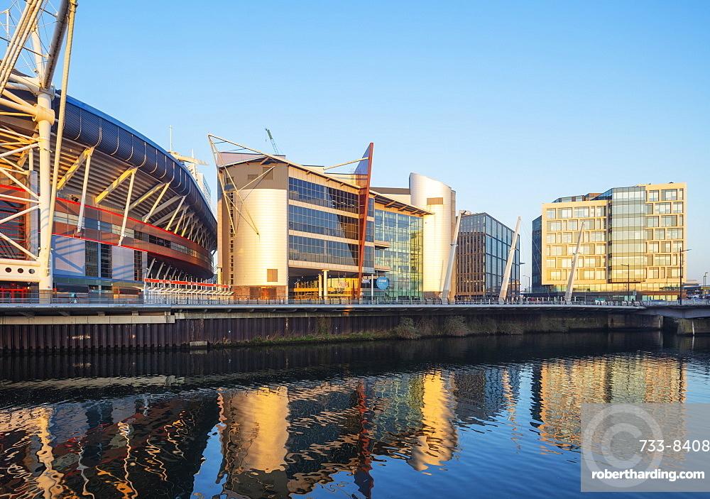 Millennium Stadium Plaza and city centre new development, Cardiff, Wales, United Kingdom, Europe