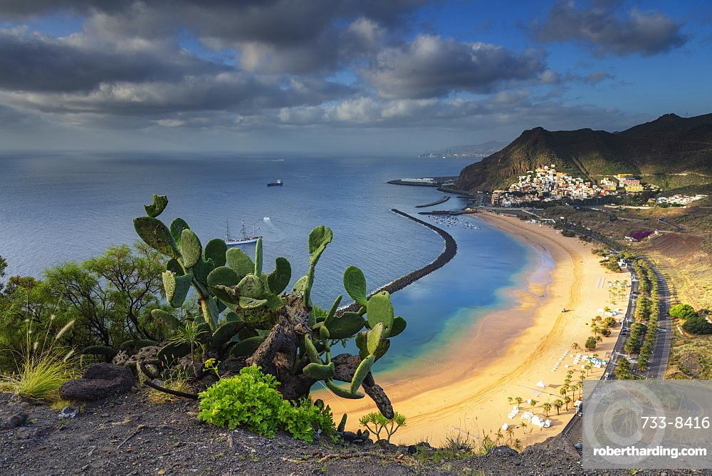 Europe, Spain, Canary Islands, Tenerife, San Andres, Playa de las Teresitas