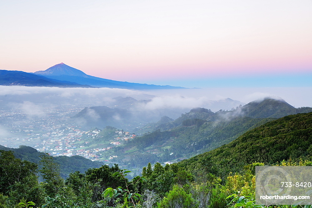 Europe, Spain, Canary Islands, Tenerife, Teide National Park, Unesco site, Pico del Teide (3718m) highest mountain in Spain