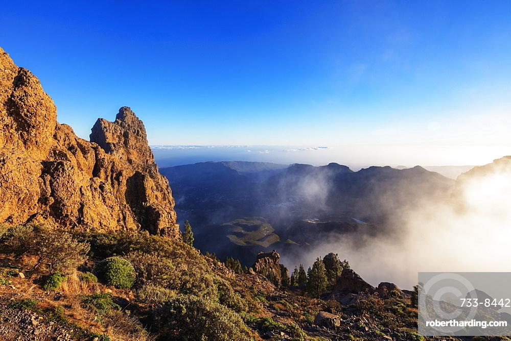 Europe, Spain, Canary Islands, Gran Canaria, Pico de Las Nieves (1949m) highest point in Gran Canaria