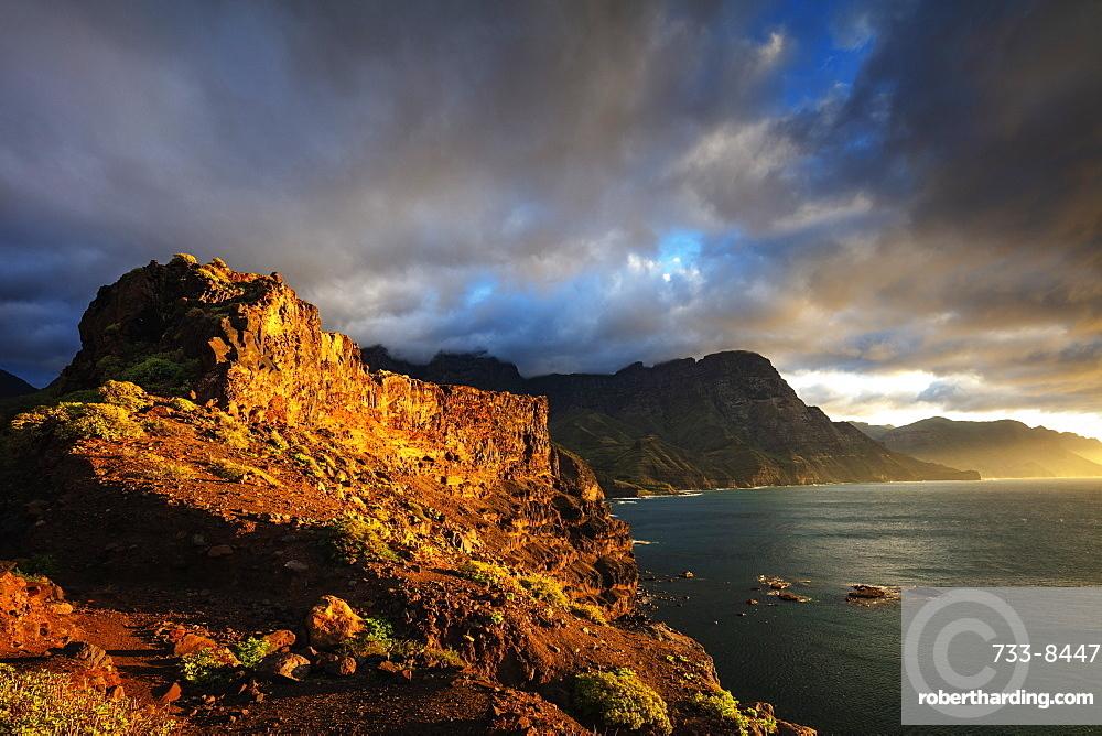 Europe, Spain, Canary Islands, Gran Canaria, Agaete, coastline