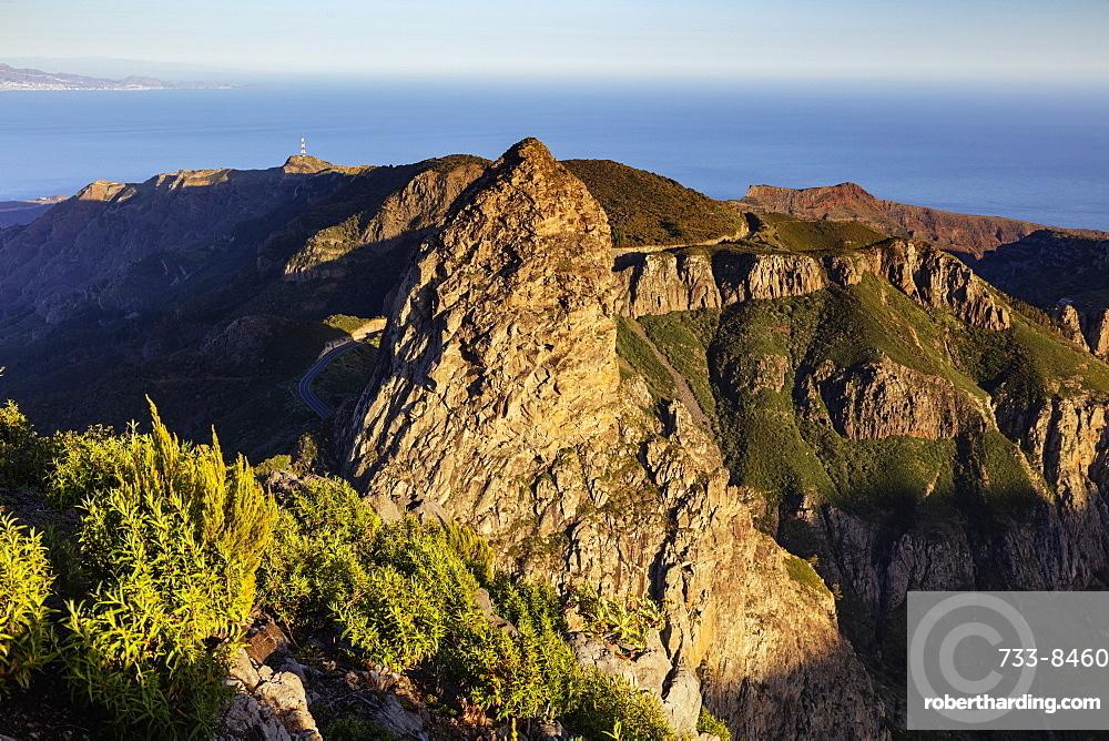 Europe, Spain, Canary Islands, La Gomera, Unesco Biosphere site, Roque de Agando, Garajonay National Park