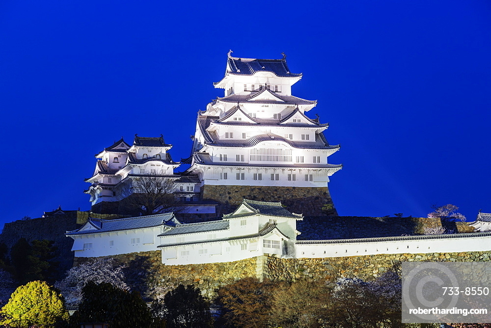 The 17th century Himeji Castle, UNESCO World Heritage Site, Hyogo Prefecture, Honshu, Japan, Asia