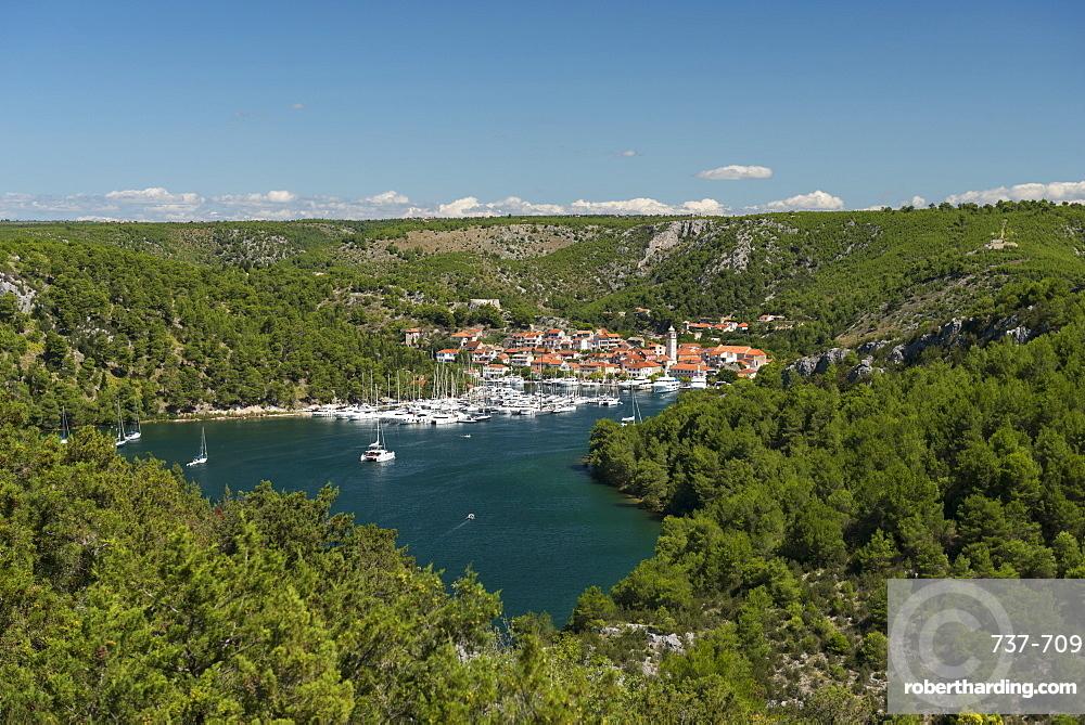 Port of Skradin and boats, Croatia, Europe