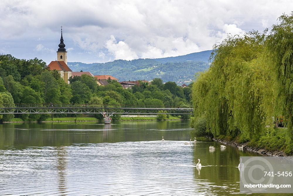 The Drava River, Maribor, Slovenia, Europe