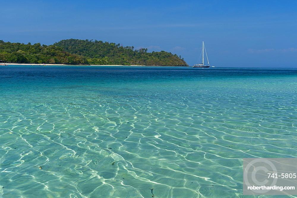 Turquoise color of Andaman Sea, Thailand, Southeast Asia, Asia