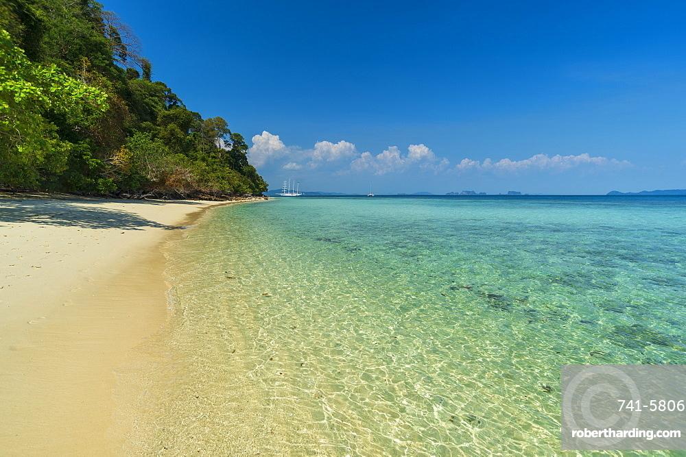 Ko Kradan tropical beach, Thailand, Southeast Asia, Asia