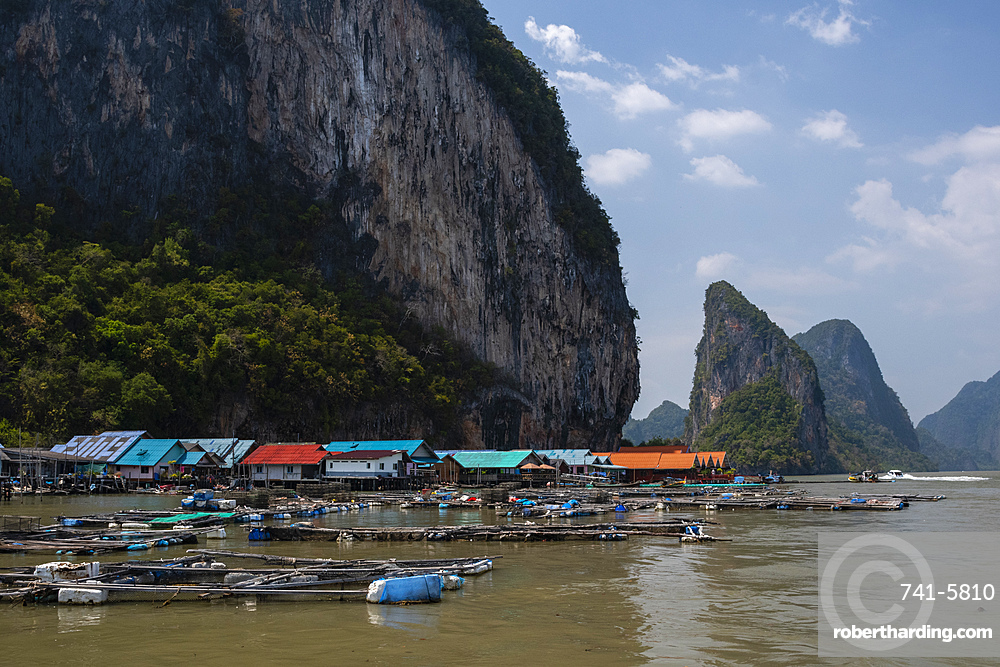 A view of Koh Panyee, one of the region???s typical Muslim villages.
