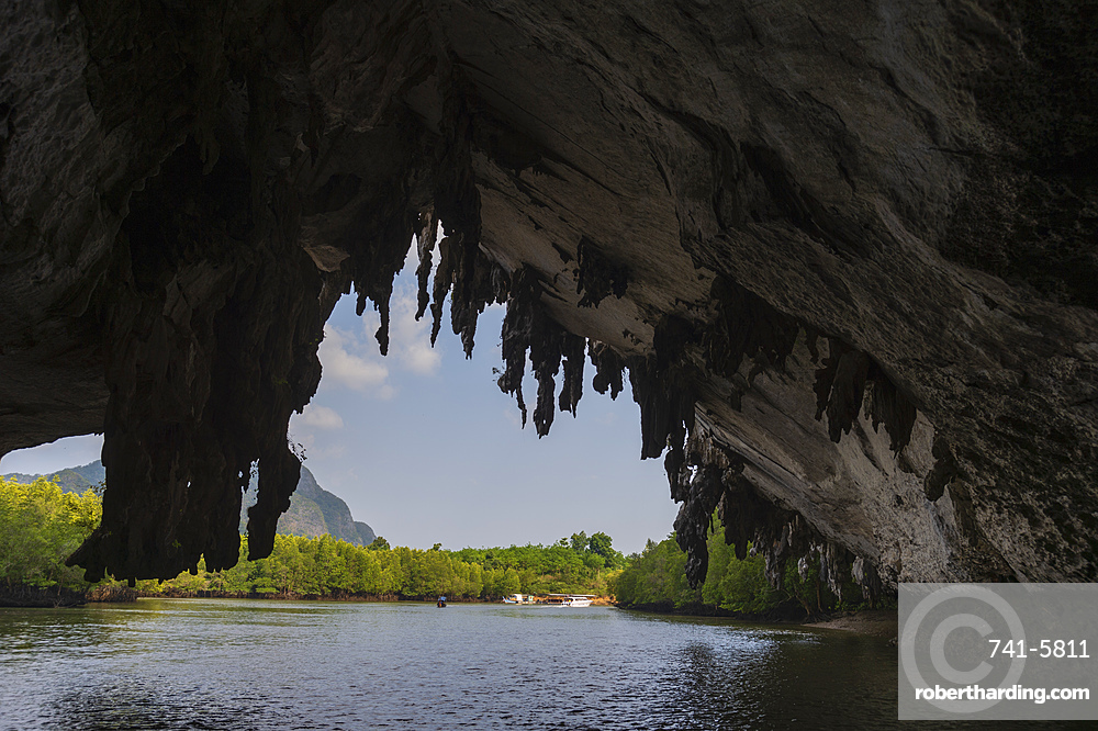 A cave in Phang Nga bay, Thailand, Southeast Asia, Asia