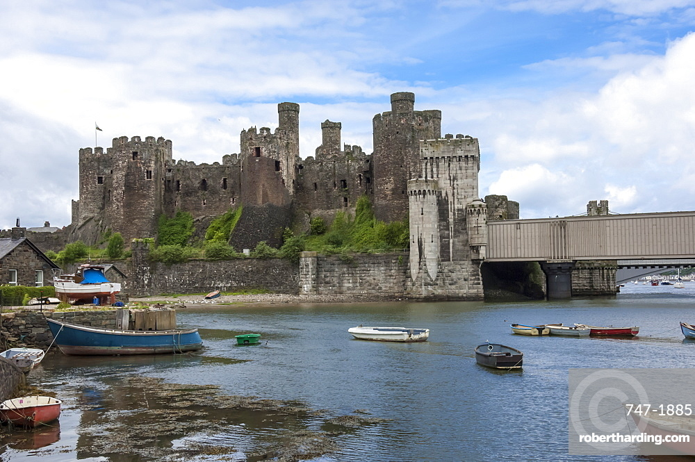 Conwy (Conway) Castle, UNESCO World Heritage Site, Conwy, Conway County Borough, Wales, United Kingdom, Europe