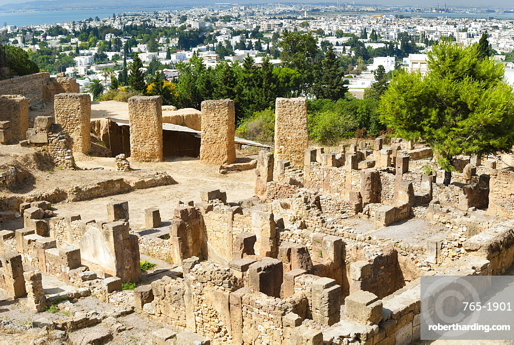 Byrsa Hill, Punic site at Carthage, UNESCO World Heritage Site, Tunis, Tunisia, North Africa, Africa