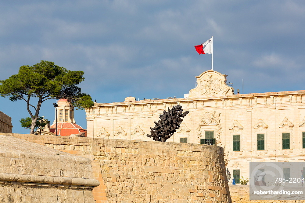 Auberge Castille Museum in old town Valletta, UNESCO World Heritage Site and European Capital of Culture 2018, Malta, Mediterranean, Europe