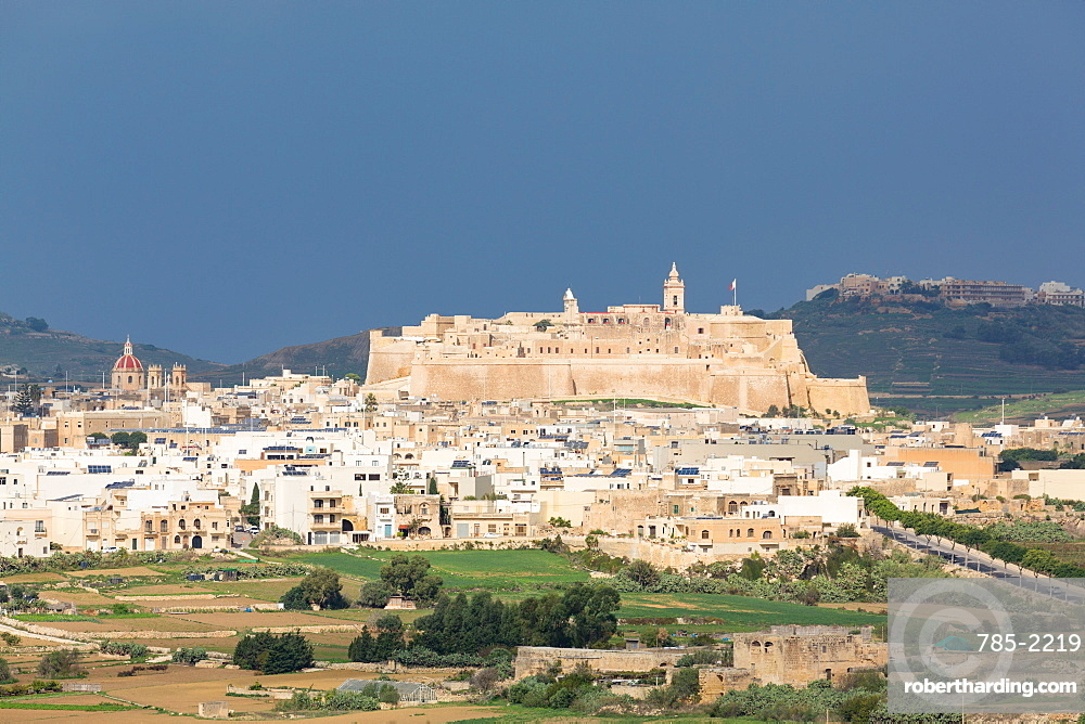 The ancient citadel of Victoria (Rabat) in the heart of Gozo, Malta, Mediterranean, Europe
