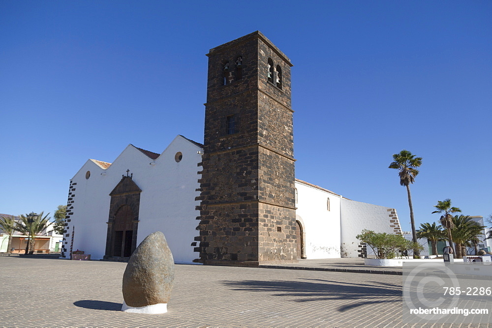Church of Our Lady of Candelaria in La Oliva on the volcanic Canaries island of Fuerteventura