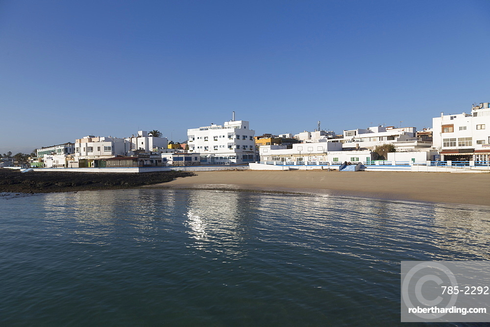 The waterfront of old town Corralejo on the island of Fuerteventura, Canary Islands, Spain, Atlantic, Europe