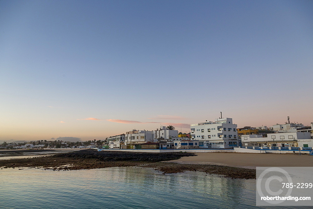 Dawn light over Corralejo on the Canaries island of Fuerteventura