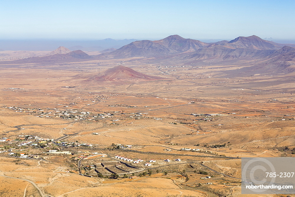 View from Mirador De Morro Velosa on the volcanic Canaries island of Fuerteventura