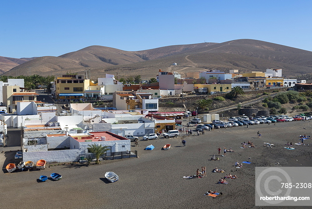 Playa Ajuy on the volcanic island of Fuerteventura, Canary Islands, Spain, Atlantic, Europe