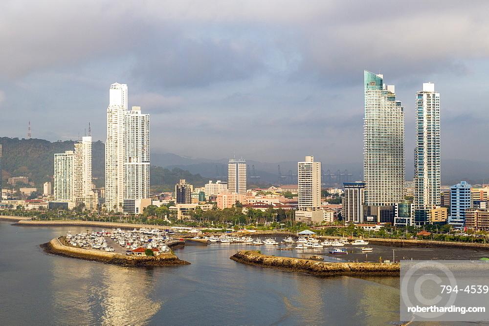 Apartment towers, Panama City, Panama, Central America