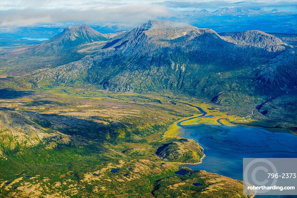 Cook Inlet coast, Katmai National Park and Reserve, Alaska, USA.