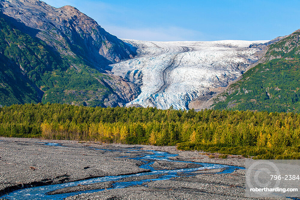 Exit Glacier, Kenai Fjords National Park, Alaska, United States of America, North America