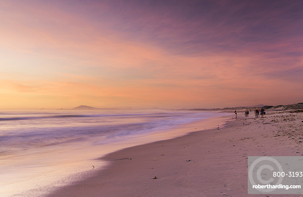Milnerton beach at sunset, Cape Town, Western Cape, South Africa