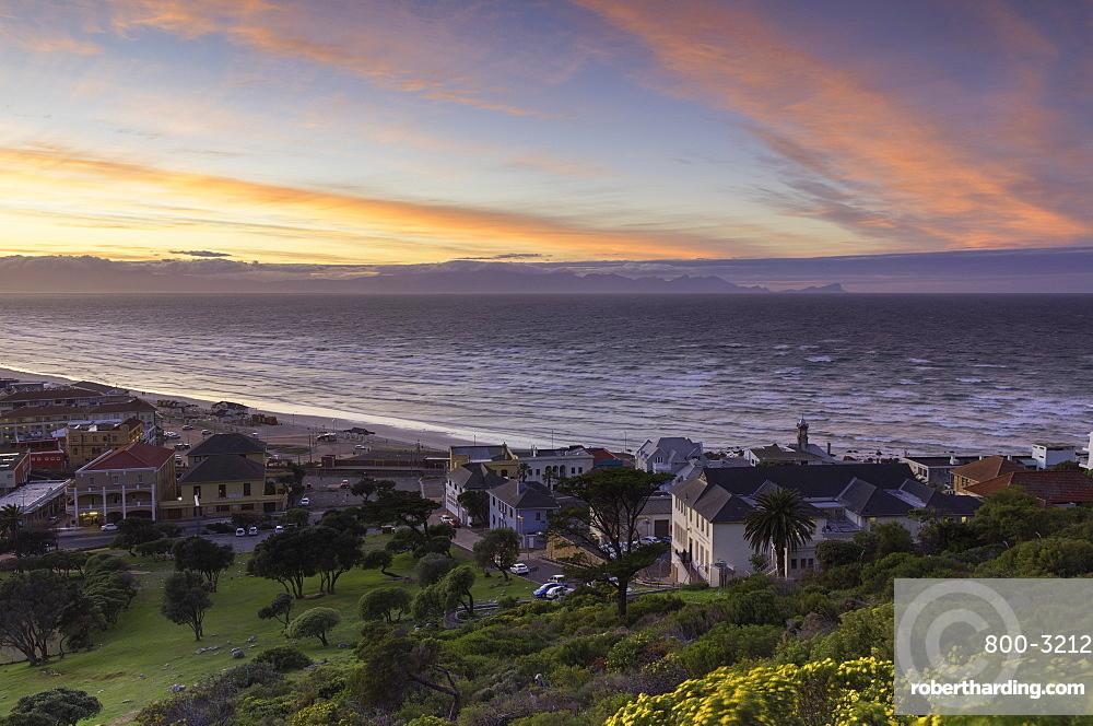 Muizenberg beach at dawn, Cape Town, Western Cape, South Africa