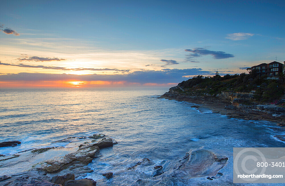 Bondi to Bronte walk at dawn, Bondi Beach, Sydney, New South Wales, Australia, Pacific