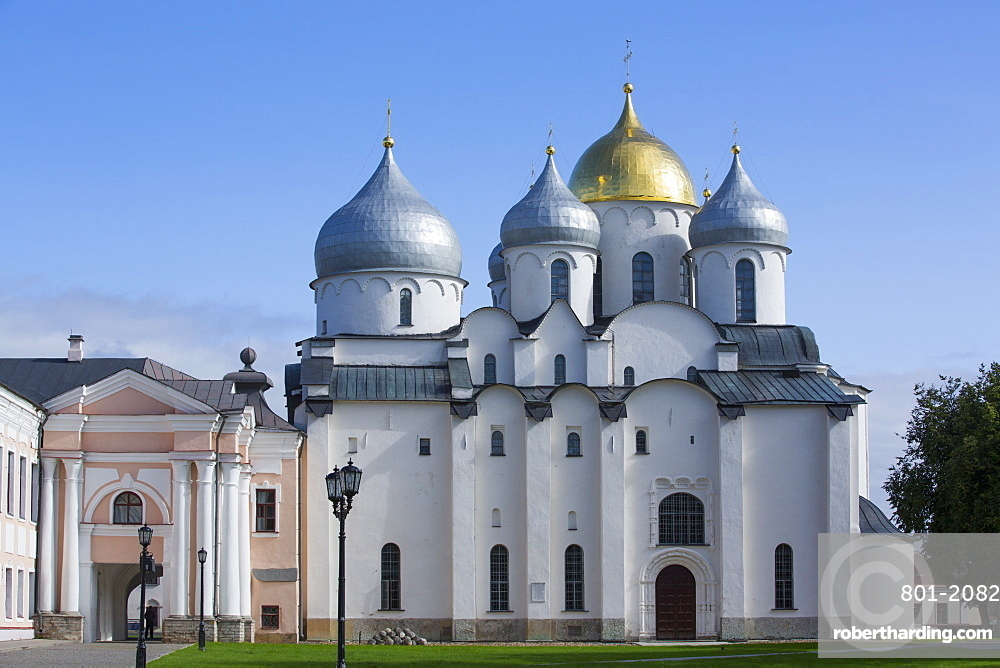 St. Sophia Cathedral, Kremlin, UNESCO World Heritage Site, Veliky Novgorod, Novgorod Oblast, Russia, Europe