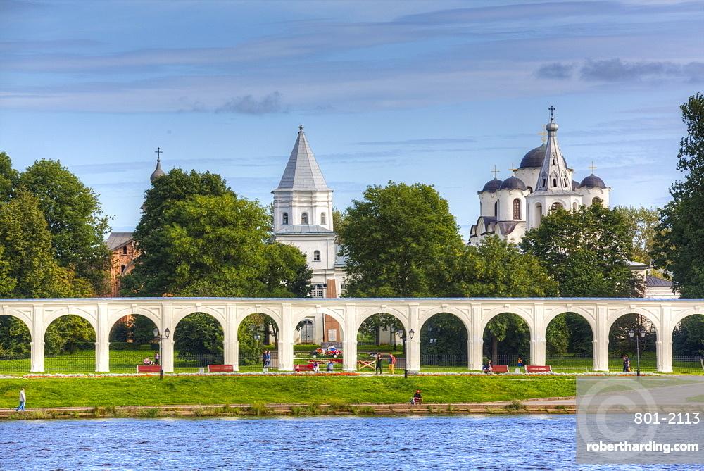 Yaroslav's Court, UNESCO World Heritage Site, Veliky Novgorod, Novgorod Oblast, Russia, Europe