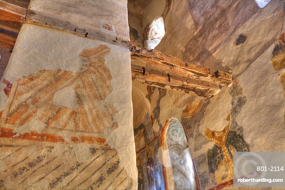 Frescoes, Church of Nereditsa, UNESCO World Heritage Site, Veliky Novgorod, Novgorod Oblast, Russia, Europe
