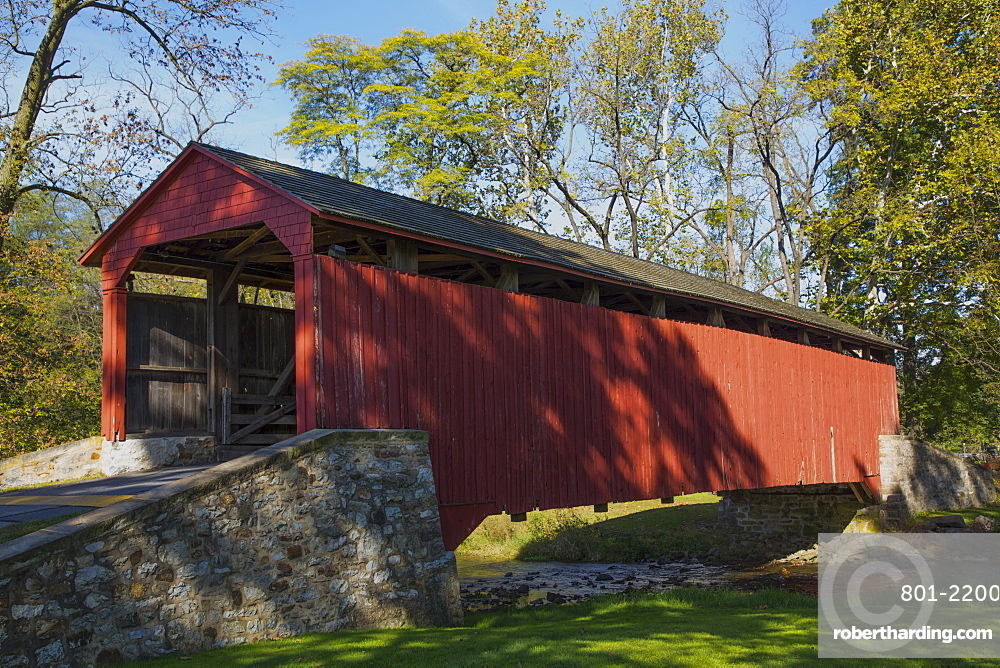 Pool Forge Covered Bridge, Built in 1859, Lancaster County, Pennsylvania, USA