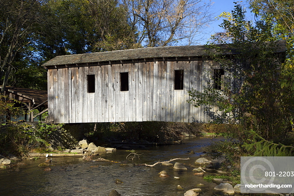 Spring Creek Covered Bridge, State College, Central County, Pennsylvania, United States of America, North America