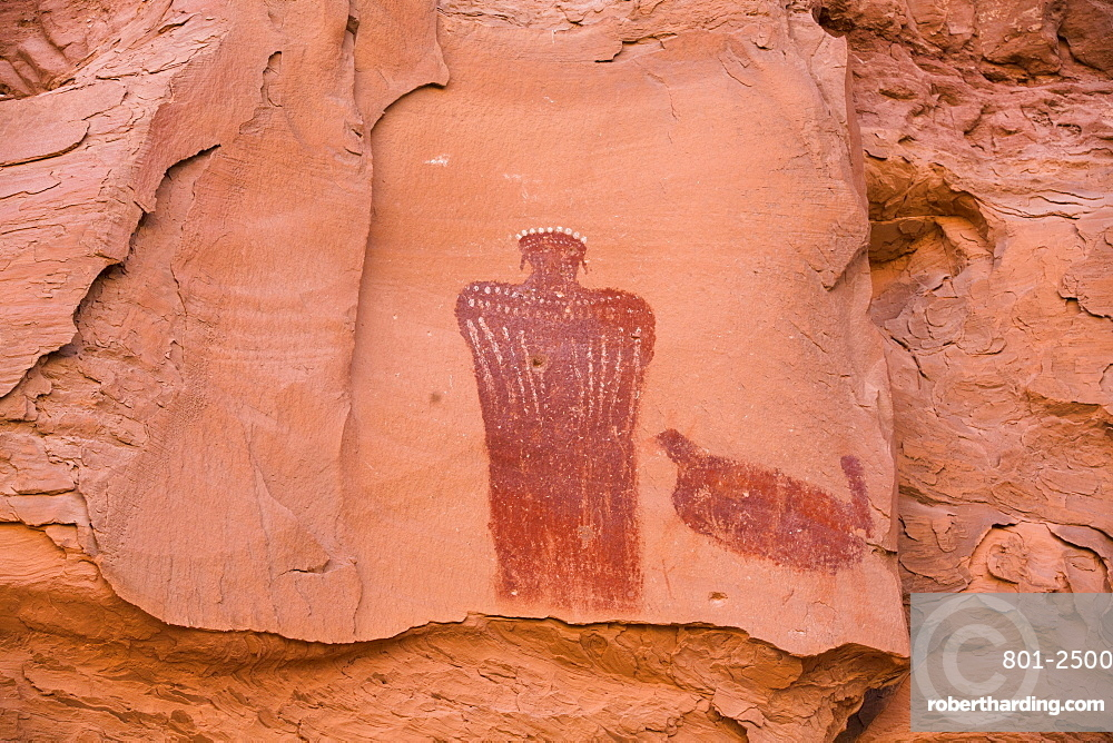 Moki (or Moqui) Queen Pictograph, Glen Canyon National Recreation Area, Utah, USA